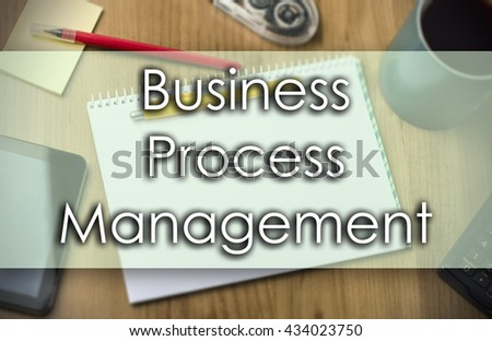 Business Process Management BPM - business concept with text - horizontal image - stock photo