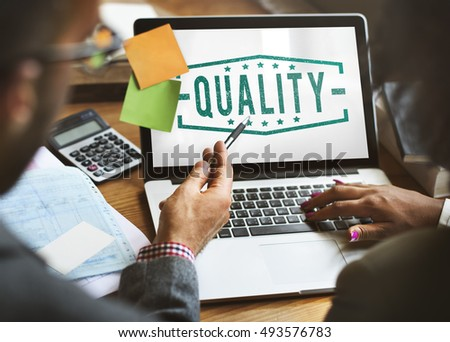 Business Quality Marketing Assurance Concept