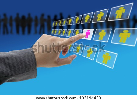 business recruitment process for workforce human resource concept - stock photo