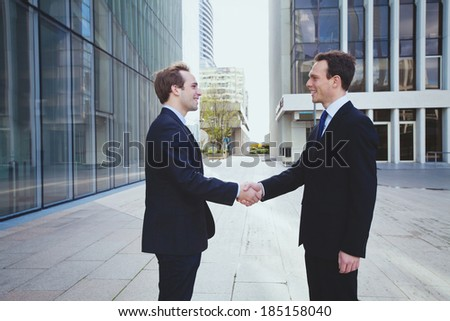 business relations - stock photo