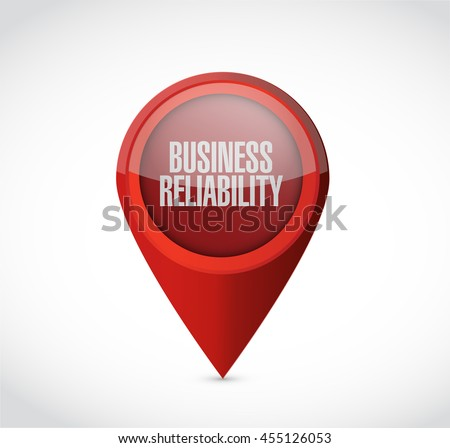 Business reliability pointer sign concept illustration design graphic