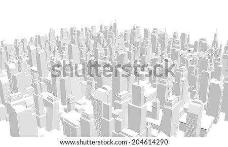 Business render city - stock photo