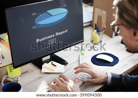 Business Report Analytics Analysis Statistics Concept - stock photo