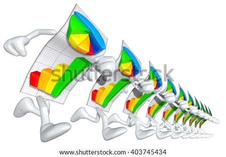 Business Report 3D Illustration - stock photo
