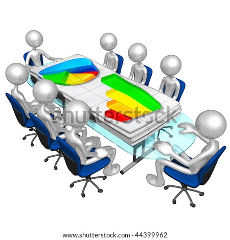 Business Reports Meeting - stock photo