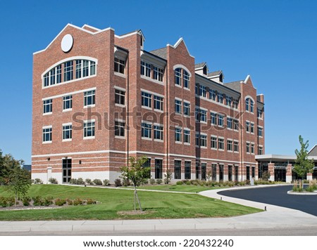 Business Research Building - stock photo