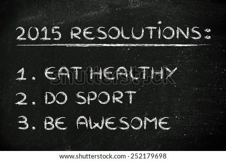 business resolutions and goals for the new year 2015, copyspace for your text