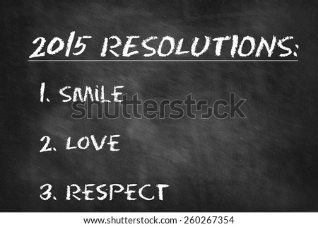 Business Resolutions For 2015 - stock photo