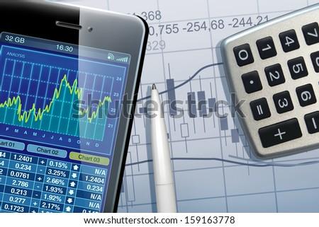 Business-scene - stock photo
