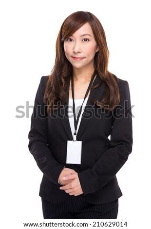 Business secretary portrait - stock photo