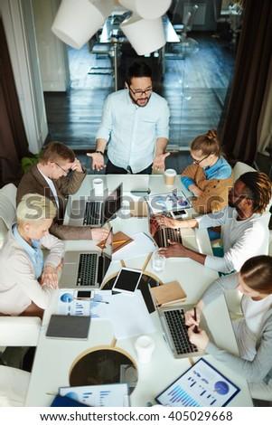 Business seminar - stock photo