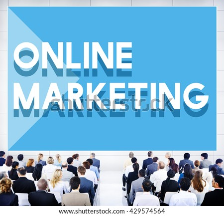 Business Seminar Conference Online Marketing Concept