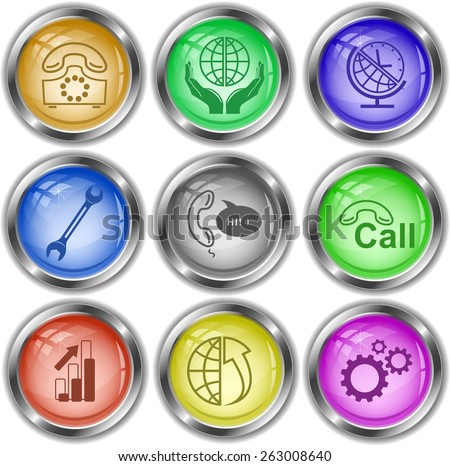 Business set. Raster internet buttons. - stock photo