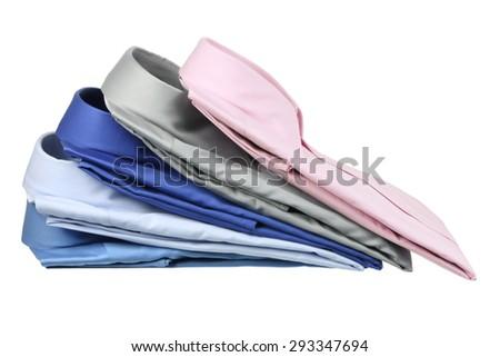 Business Shirts on White Background - stock photo