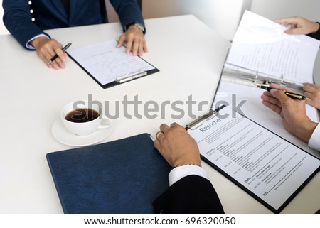 Business sign contract applying for a job or agreement