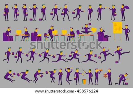 Business Solution. Business concept illustration men art