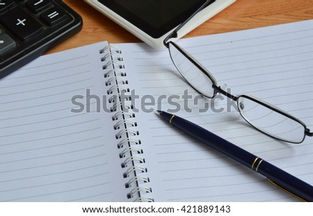 business stationery on the desk