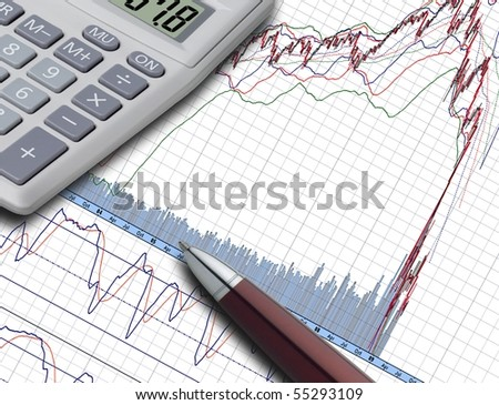 Business statistic - stock photo
