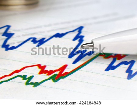 Business statistics and analysis multiple exposure.  - stock photo