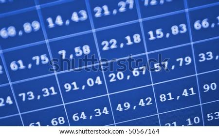 Business stock exchange. Copmputer screen. - stock photo