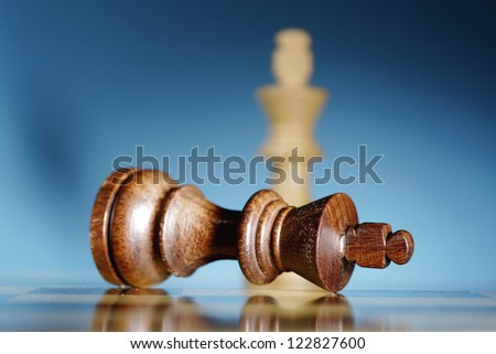 Business Strategic Formation in the chess game - stock photo