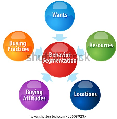 Business strategy concept infographic diagram illustration of  Behavior Segmentation components