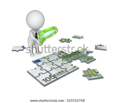 Business strategy concept.Isolated on white. - stock photo