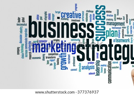 Business strategy concept word cloud background
