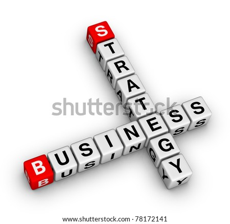 business strategy crossword - stock photo