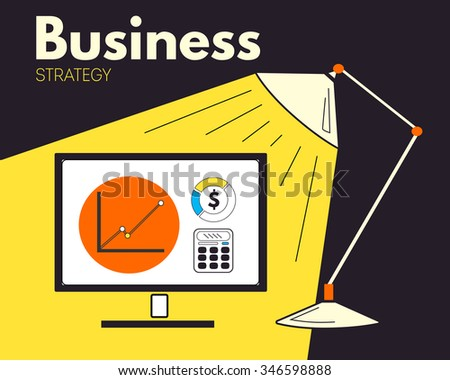 Business strategy. Illustration creative background with statistics  - stock photo