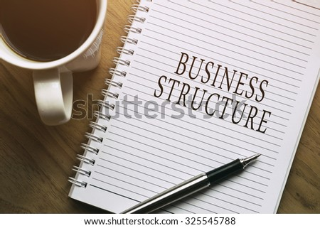 Business Structure, business conceptual - stock photo