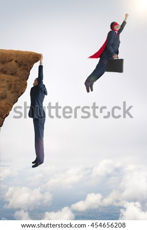 business success and failure concept  - stock photo