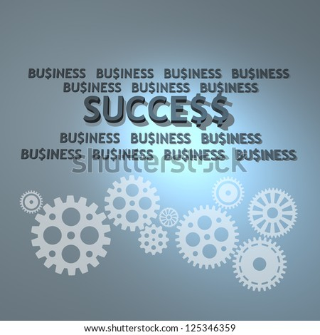 Business success and teamwork concept