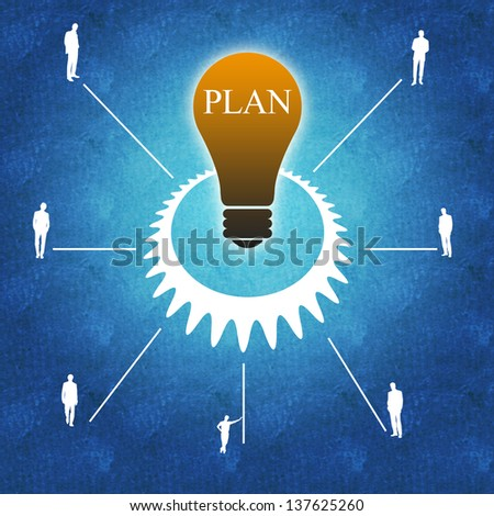 Business success and teamwork planning - stock photo