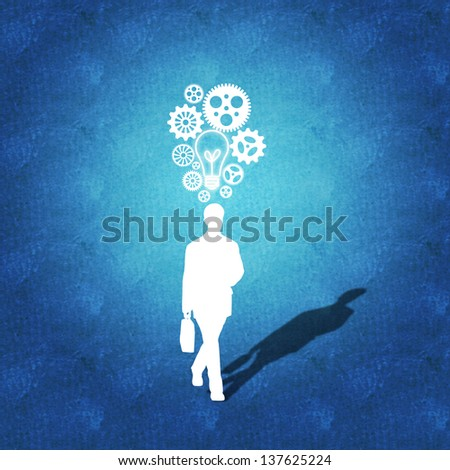 Business success as a result of great ideas - stock photo