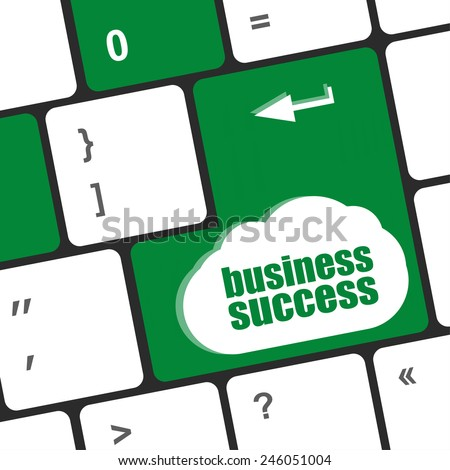 business success button on computer keyboard key - stock photo