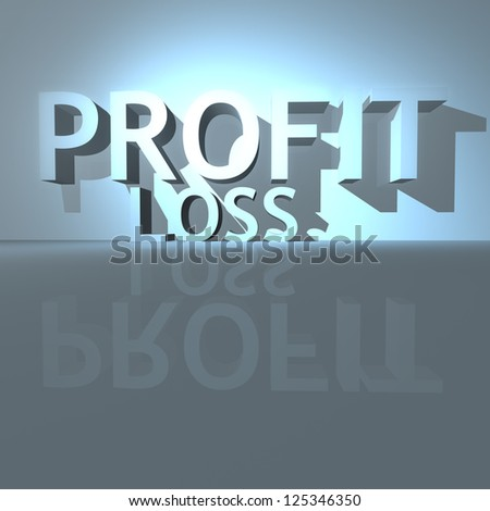 Business success concept: profit as a result of proper decision making