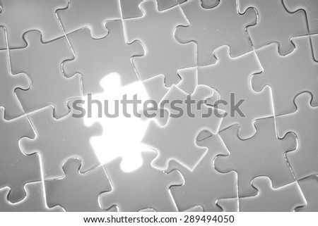Business success, jigsaw puzzle concept