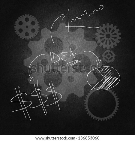 Business success through good management and planning - stock photo
