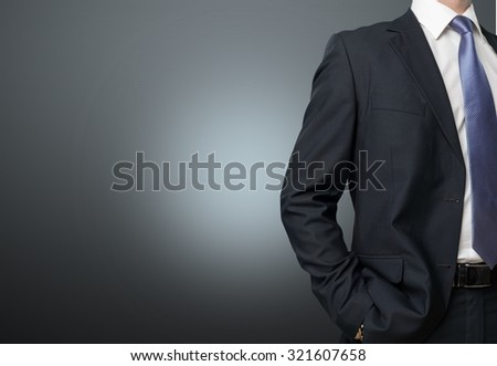 Business suit.