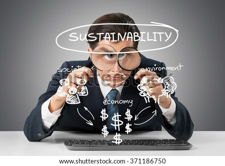 Business sustainability. - stock photo