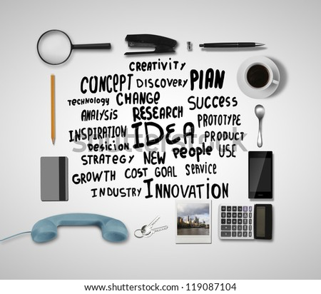 business tags and office object - stock photo