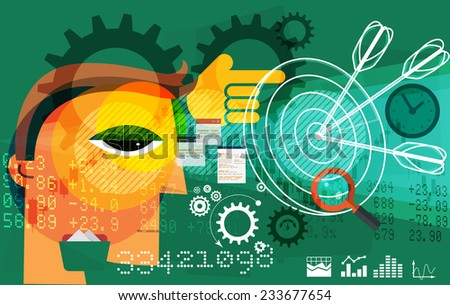 Business Target Abstract - Illustration - stock photo