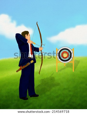 Business Target Concept - stock photo