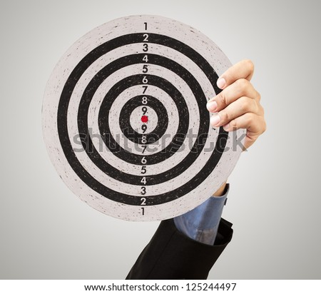 business target in hand