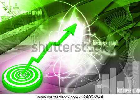 Business target marketing concept - stock photo