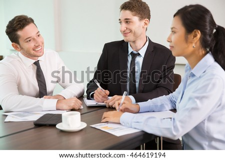 Business Team at Meeting in Office