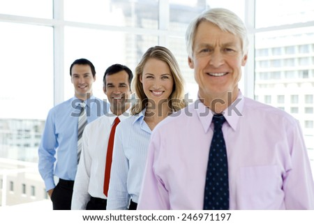 Business team behind ceo