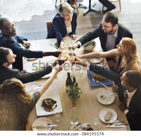 Business Team Celebration Party Success Concept - stock photo