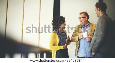 Business Team Coffee Break Relax Concept - stock photo
